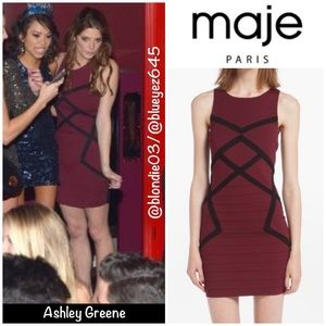 "Maje ""Destinee"" stretch mini dress 1(US S)"